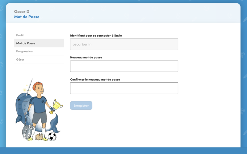 4 - Choisissez un nouveau mot de passe, confirmez et notez-le bien.